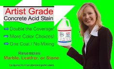 Artist Grade Concrete Stain and Supplies. Learn How to Stain Concrete Floors and Exterior using concrete acid stain.