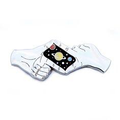 """Good Night Saturn"" Outer Space Lapel Pin                      – DORRARIUM"
