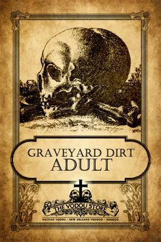 Adult Graveyard Dirt : The Vodou Store Retro Halloween, Spooky Halloween, Halloween Potions, Halloween 2020, Holidays Halloween, Halloween Crafts, Halloween Decorations, Halloween Stuff, Halloween Pumpkins