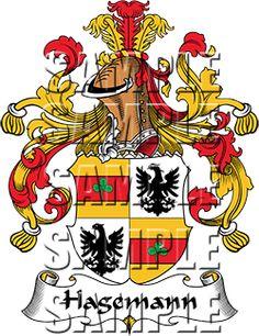 Hagemann Family Crest apparel, Hagemann Coat of Arms gifts