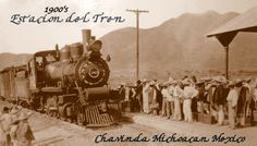 This Is How The Train Station of Chavinda Michoacan  looked Like In the Early Days of the 1900's
