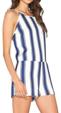 33eb7ddc6202 Capulet Blue And White Romper Jumpsuit. Free shipping and guaranteed  authenticity on Capulet Blue. Tradesy