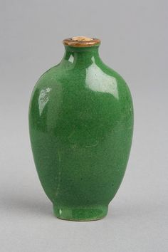 Chinese Snuff Bottle  ~  19th Century  Porcelain with crackled glaze