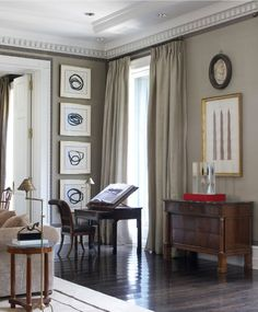 Amazing living room design by Luis Bustamante Living Area, Living Spaces, Greige, Formal Living Rooms, Dining Rooms, Beautiful Interiors, Home Design, My Dream Home, Interior Inspiration