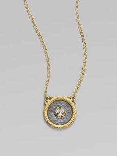 GURHAN  Pavé Diamond & 24K Yellow Gold Necklace
