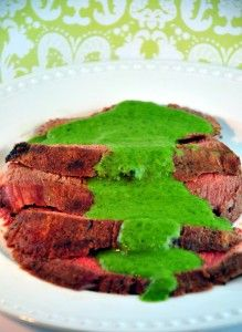 Argentinian Flank Steak with Chimichurri Sauce
