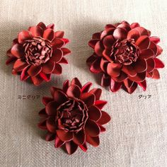 Leather flower(shoes clip)