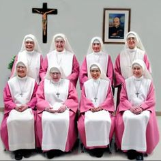 The Pink Sisters order... their vocation is to pray constantly for priests!