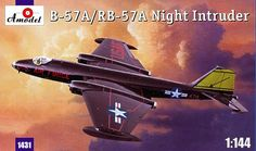 Martin B-57A / RB57A Canberra, Night Intruder. A Model, 1/144, injection, No.1431. Price: 10,98 GBP.
