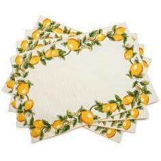 $29.95 Lemon Placemats, Set of Four