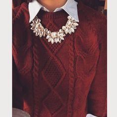 "preppyjane: ""Love my sweater and necklace from lightinthebox ❤️ """