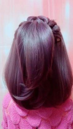 Short Hair Styles Easy, Curly Hair Styles, Natural Hair Styles, Short Hair Hacks, Easy Hairstyles For Long Hair, Braided Hairstyles, Short Hair Updo Easy, Super Easy Hairstyles, Short Hairstyles
