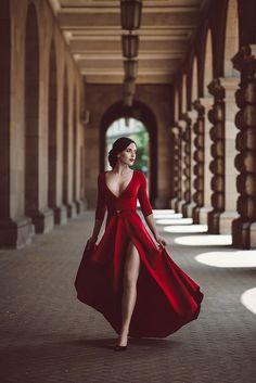 Red Prom Dress,Split Prom Dress,Fashion Prom Dress,Sexy Party