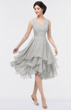 4d6d296628 Platinum colorsbridesmaid.com offers Elegant V-neck Sleeveless Zip up  Ruching Bridesmaid Dresses at