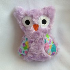 Purple Softie Plush Owl with bright colored wings on Wanelo