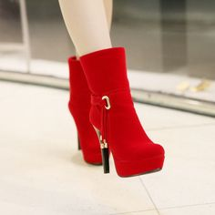 Fashion High Heeled Tassel Sexy Boots
