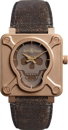 BR01-92-SKULL-BR Bell & Ross Aviation Limited Edition 46mm Mens Luxury Watch Sale - BRAND NEW - Free Overnight Shipping - Guaranteed Authentic - Best Online Prices!