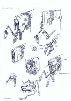 repair design repair bot 2 by TugoDoomER. Robot Sketch, Robots Drawing, Arte Robot, 3d Modelle, Arte Cyberpunk, Industrial Design Sketch, Gundam Art, Robot Concept Art, Futuristic Art