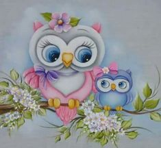 Tole Painting, Fabric Painting, Owl Artwork, Owl Wallpaper, Owl Cartoon, Owl Pictures, Beautiful Owl, Owl Patterns, Baby Owls