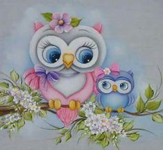 Pintura em Fraldas de Bebê: 50 Ideias Incríveis - Artesanato Passo a Passo! Art Drawings For Kids, Cute Drawings, Tole Painting, Fabric Painting, Owl Artwork, Owl Wallpaper, Owl Clip Art, Owl Cartoon, Owl Pictures