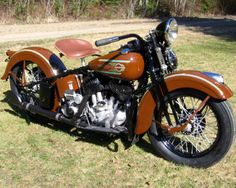 '37 UL Harley in original Bronze Brown, folks preferred the Delphine Blue & Teak Red for color choice in the day. (Referred to as Baby Shit Brown)