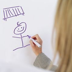 """Baby Pictionary    """"All you need is a dry erase board and a list of baby items. The guests were split into two teams. Each person had a chance to draw the baby item, while their team guessed what it was. The team who guesses the most items wins.""""—Melody"""