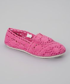Another great find on  zulily! Fuchsia Crocheted Slip-On Shoe by Chatties   f1db5115439b0