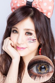 Princess Pinky Radiance Grey Circle Lenses | Princess Pinky Radiance Grey are an excellent pick for city-light make up style. The starry sky shine brightly in the eyes.