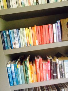 Book shelves , rainbow