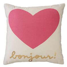 Bonjour Heart Pillow | The Land of Nod