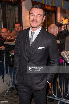 Luke Evans arrive the Weinsten x Grey Goose Pre BAFTA party at Little House Mayfair on February 12, 2016 in London, England.
