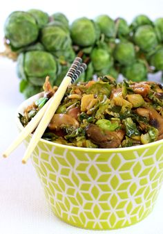 Asian Chicken and Brussels Sprouts