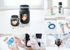 Manson jar candle holder