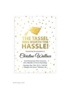 College graduation announcements college graduation announcements printable graduation invitation graduation announcement tassel was worth the hassle grad invite filmwisefo