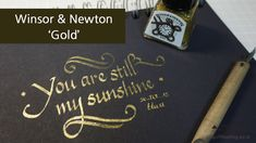 [Ink] Winsor & Newton Gold Drawing Ink - Review & writing : 호얀[Hoyarn]