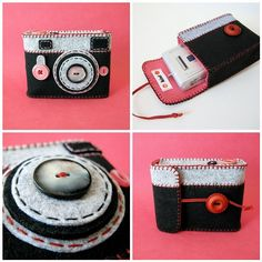 "Camera Camera Case ""Analogu"" pink! 