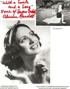 Meet Adriana Caselotti: Voice of Walt Disney's Snow White. #snowwhite