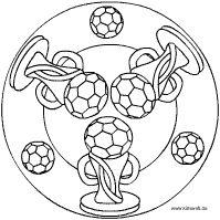 Kleurplaten Voetbal Mandala.Nog Meer Mandalas Voetbal Kleurplaten Kids Soccer Football Art