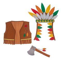 set disfraz indio CasaIdeas // indian kids costume
