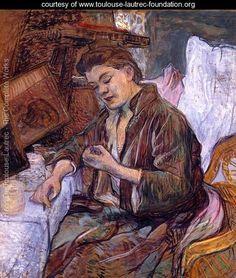 View image and learn about La Toilette - Madame Fabre, a painting by Henri de Toulouse-Lautrec Henri De Toulouse Lautrec, Fabre, European Paintings, Expositions, Edgar Degas, Renoir, French Artists, Oeuvre D'art, Van Gogh