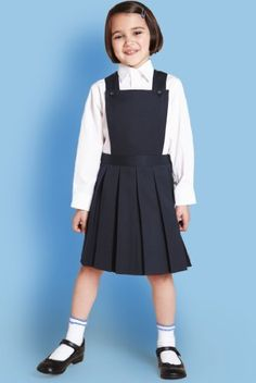 Girls' Bib Pinafore with Stormwear+™ Girly Girl Outfits, Cute Little Girl Dresses, Cute Young Girl, Girls Dresses, School Girl Dress, School Dresses, School Uniform Outfits, Kids Uniforms, Baby Dress Design