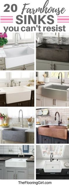 20 farmhouse sinks you don't want to miss. #farmhouse #sink #farmhousestyle #rustic