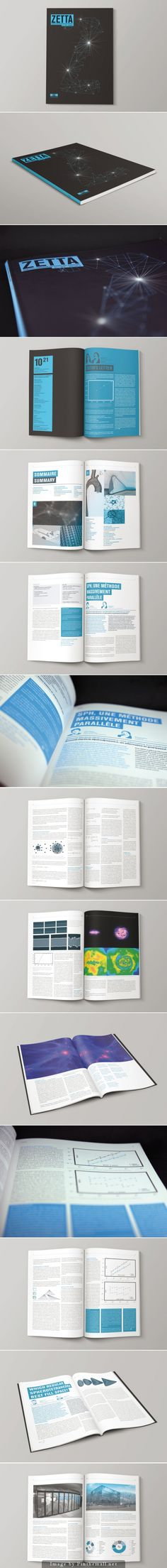 Création et mise en page d'une revue scientifique de l'EPFL intitulée Zetta. Magazine Cover Layout, Magazine Layout Design, Math Design, Book Design, Brochure Layout, Brochure Design, Editorial Layout, Editorial Design, Journal Du Design