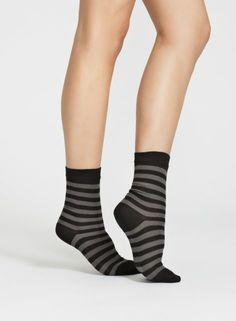 Raitsu Striped Socks Grey/Black Unisex Men Women by Marimekko End Of Season Sale, Striped Socks, Marimekko, Black And Grey, Stripes, Unisex, Fashion Outfits, Classic, Cotton