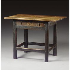 A SIDE TABLE,  QUEEN ANNE, EARLY 18TH CENTURY fruitwood, with a drawer and chamfered legs