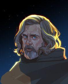 """""""Happy from like of the total number of Luke Skywalker fan arts Ive drawn"""" Luke Skywalker, Star Wars Art, Dracula, Live Action, Twitter, Concept Art, Fan Art, Stars, Illustration"""