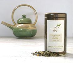 Raspberry Orange Rhapsody Green Tea Loose Leaf Tea by ArtfulTea, $14.00