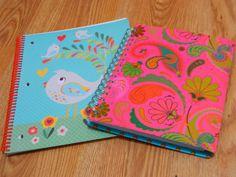 Organizando o caos: BC fotos: volta às aulas - Cadernos lindos da Ana