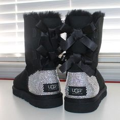 UGG Official Women's Bailey Bow Boots Crystallized in Genuine Swarovski.