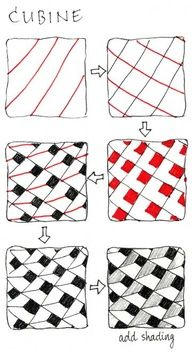 How to - cubine zentangle